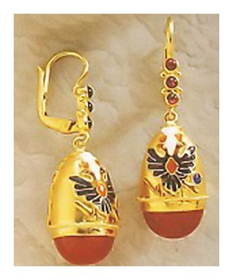 Countess Petrovna Carnelian Earrings