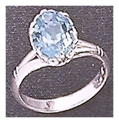Mayfair Blue Topaz Ring