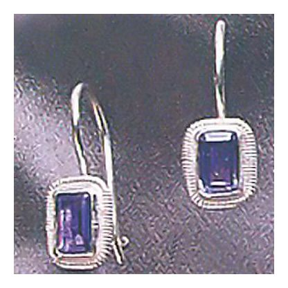 Brittania Iolite Earrings Silver