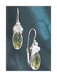 Windsor Peridot and Pearl Earrings