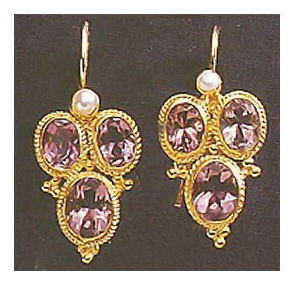 Dorothea Brooke Amethyst Earrings