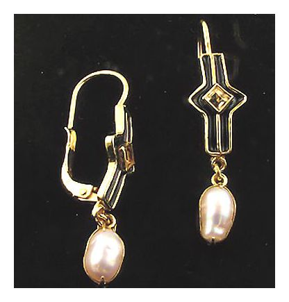 Citrine & Pearl Earrings