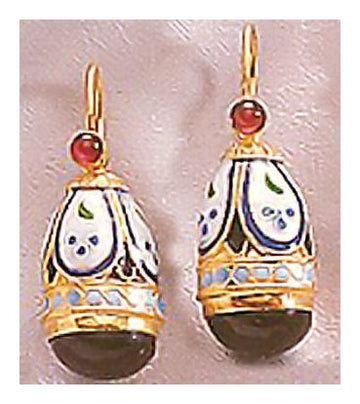 Princess Alexandra Onyx Earrings-Screw Backs