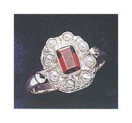Padua Garnet and Pearl Ring