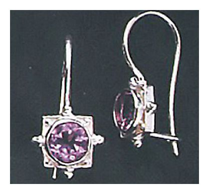 Alma Amethyst Earrings