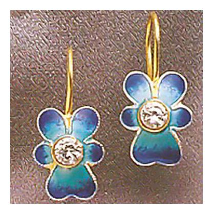 Blue Heath Flower Earrings