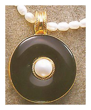 Onyx and Pearl Necklace