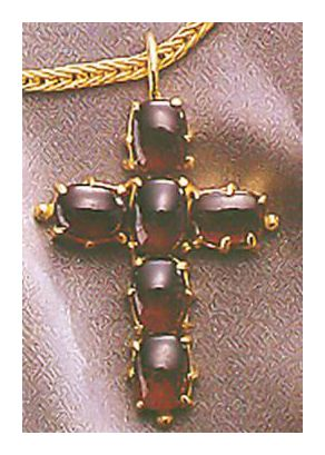 Westminster Garnet Cross Necklace