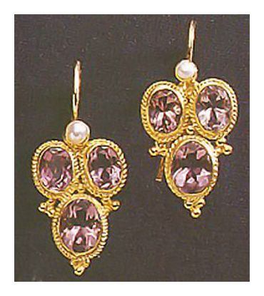 Dorothea Brooke Amethyst Earrings-Screw Backs