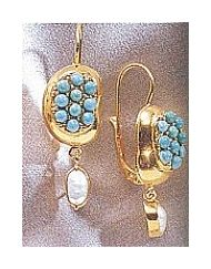 Sultaness Of Delhi Turquoise Earrings