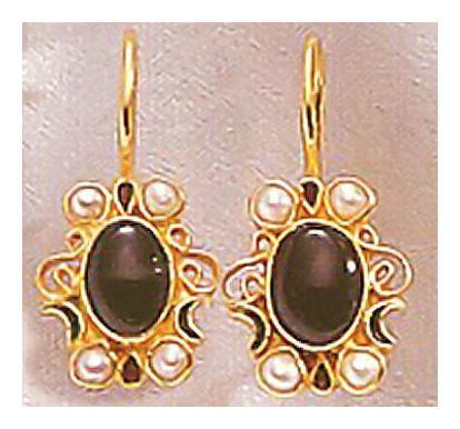 Natasha Crawford Onyx & Pearl Earrings