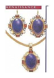 Set of Marguerite De Navarre Earrings and Necklace