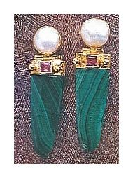 Manhattan Malachite Earrings