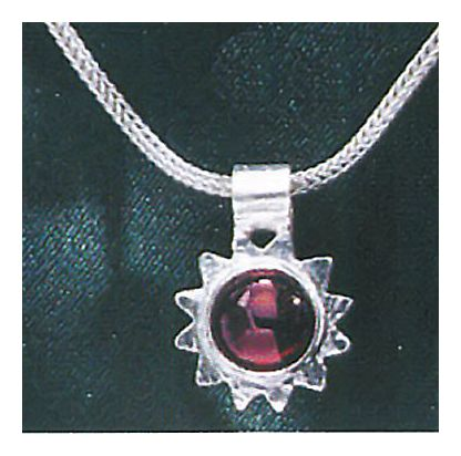 Summer Solstice Garnet Necklace