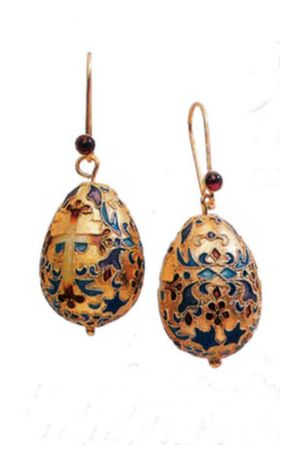 Czarina Egg Earrings-Screw Backs