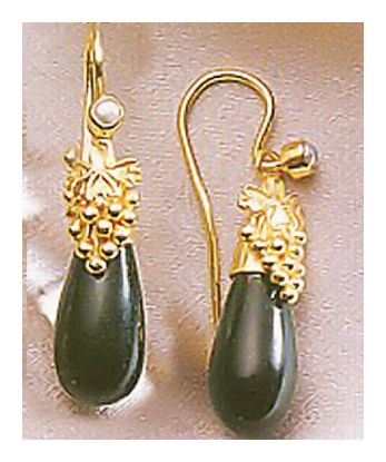 Corinthian Onyx Earrings-Screw Backs