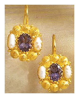 Jane Austen Iolite Earrings