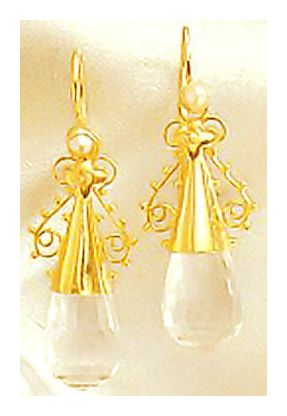 Salome Crystal Earrings-Screw Backs