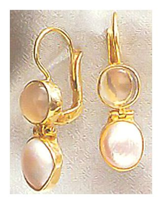 Lamermoor Moonstone & Pearl Earrings
