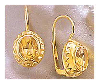 Lady Jane Citrine Earrings