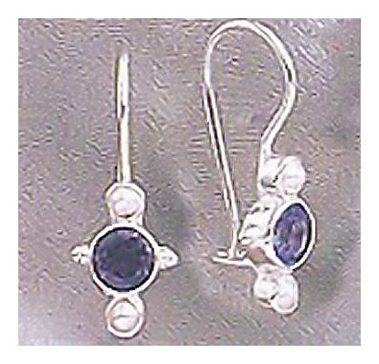 Europa Iolite & Pearl Earrings