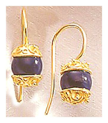 Volga Lapis Earrings