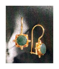 Trudy Trueheart Emerald Earrings