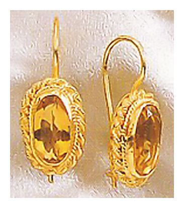 Selsey Citrine Earrings