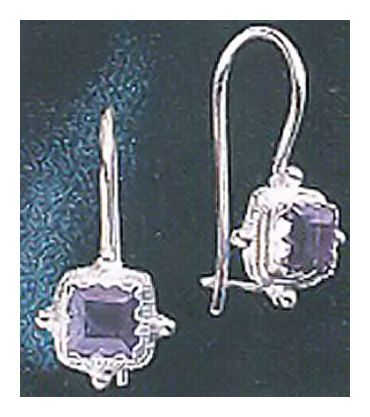 Thessaly Iolite Silver Earrings