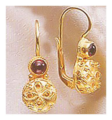 Sappho Garnet Earrings