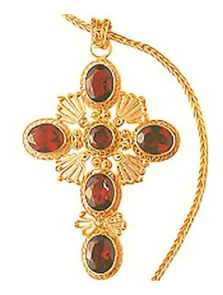 Queen Bess Cross Necklace