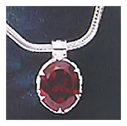 Geraldine Garnet Necklace