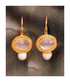 Clair De Lune Moonstone & Pearl Earrings