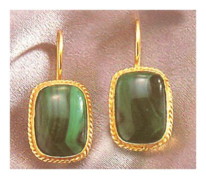 Middle Kingdom Malachite Earrings