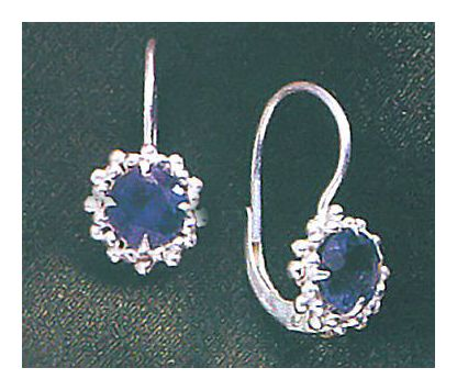 Iolite Wreath Earrings