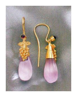 Corinthian Amethyst Earrings-Screw Backs