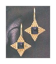 Alexandrian Onyx Star Earrings