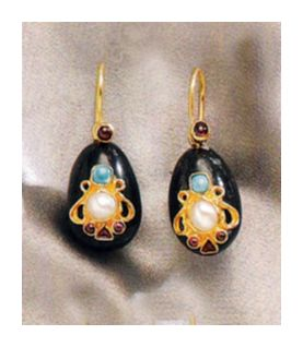Anna Karenina Earrings-Screw Backs