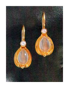 Moonstone of Baker Street Earrings