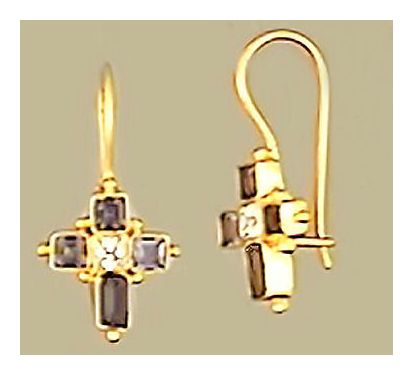 St. Albans Cross Earrings
