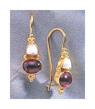 Adelaide Armsworthy Garnet and Pearl Earrings