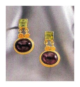 Verona Garnet & Peridot Earrings