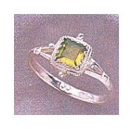 Thessaly Peridot Silver Ring