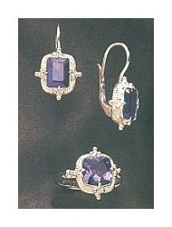Augusta Iolite Earrings and Ring Set