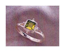 Set of Thessaly Peridot Earrings and Ring