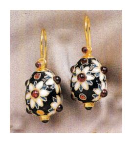 Anastasia Egg Earrings-Screw Backs
