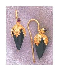 Mesopotamia Onyx Earrings-Screw Backs