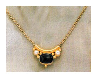 Othello Onyx and Pearl Necklace