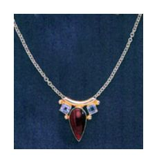 Camelot Carneian and Blue Topaz Necklace