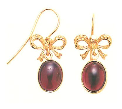 Cake Walk Garnet Earrings